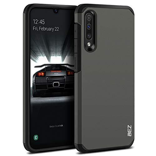BEZ Funda Samsung A50, Samsung A30s, Carcasa Protectora para Samsung Galaxy A50 / A30s Antideslizante Ultra Híbrida Gota Protección, Cover Anti-Arañazos con Absorción de Choque Resistente, Plata