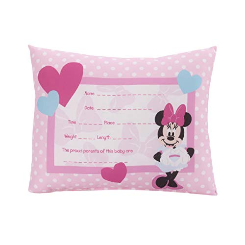 of lambs ivy crib beddings dec 2021 theres one clear winner Disney Minnie Mouse Decorative Keepsake Pillow - Personalized Birth Pillow, Pink, White, Teal