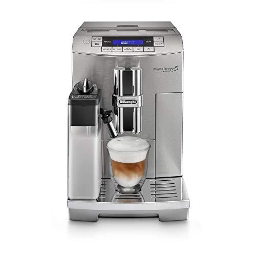 De'Longhi Cafetera Superautomática PrimaDonna S Deluxe ECAM28465M de Acero Inoxidable, Elegante Diseño Italiano con Tecnología LatteCrema System, Molino para Café en Grano y Panel de Control Sensor Touch