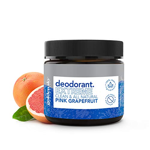 Golden Sky Naturals All Natural Deodorant Cream with Pink Grapefruit Essential Oil, Deodorant without Aluminum and Paraben for Men and Women, 2 ounce