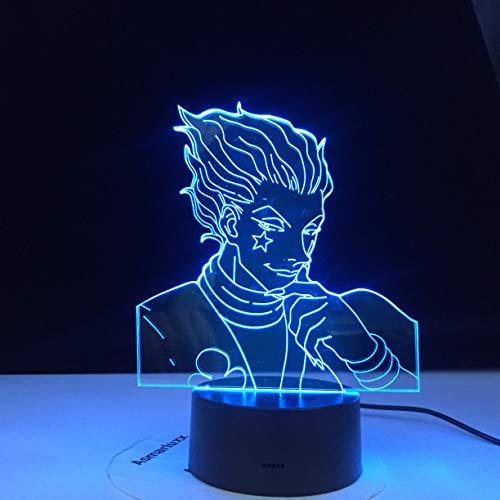 Anime Hunter X Dekor Licht 3D Illusionslampe Hisoka Gadgets Kinder Nachtlicht Geschenk Led Touch Sensor Buntes Schlafzimmer Nachtlicht_EKSDG