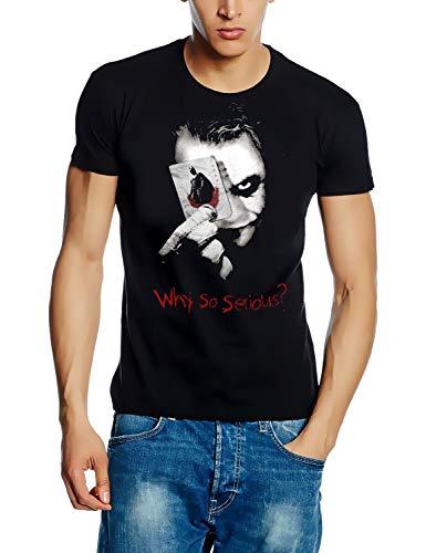 Batman The Dark Knight WHY SO SERIOUS ? Card T-Shirt SCHWARZ Gr.2XL