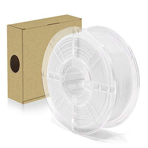 Fasttobuy Filament PLA+ 1.75mm, 3D Drucker PLA Plus Maßgenauigkeit +/- 0.03mm, 1KG (2.2 LBS) Spule für 3D Drucker (Weiß)