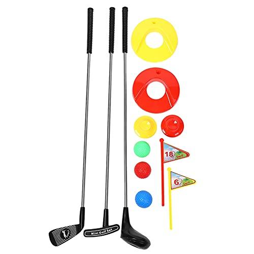 VGEBY Golfschläger Spielzeug Set, 10Pcs Kinder Golf Sport Spielzeug für Vorschulerziehung Outdoor Unterhaltung
