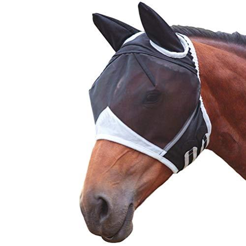 Máscara de la mosca del caballo, máscara respirable del caballo con la máscara de la oreja contra los caballos del mosquito Máscara de la mosca del caballo - máscara anti del caballo del mosquito