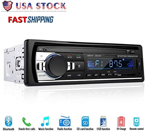 xatos Car Stereo with Bluetooth Audio in-Dash FM Radio, MP3 Player USB/SD/AUX Hands Free Calling, Vehicle Digital Media Receiver(Does not Play CDs)