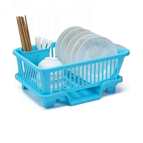 HLDUYIN Supporto di plastica Posate Vassoio cassetto Organizzatore Rack, Grande scolapiatti Rack Utensili Posate per la Cucina, Portatarga con Drippin