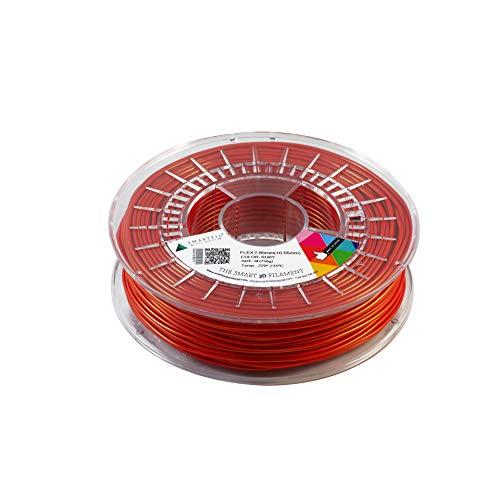 smartfil, smflx0re0b075, filamento elastico E flessibile per stampante 3d, 2.85mm, 750G, Ruby