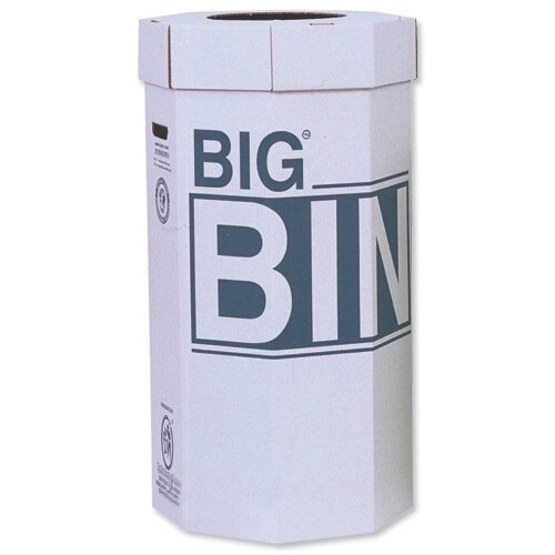 Acorn Big Bin Flat-packed Recycled Board Material 450x900mm 160 Litres Ref 142958 [Pack of 5]
