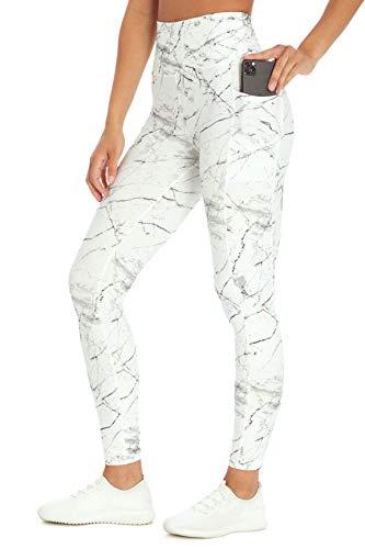 Marika Women's Legging, White Light Marble Cracks, Large