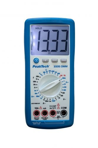 PeakTech 410004 3335 - Multímetro digital de mano (195 x 92 x 38 mm)