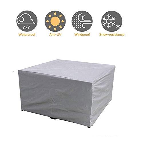 NINGWXQ Covers for Garden Furniture Rattan Cube Cover Waterdicht Scheurbestendige Outdoor Sofa Covers, Gray, 29 Maten (Color : Gray, Size : 160x160x80cm)