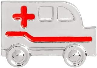 PULABO Broche de ambulancia para mujer, con insignia, abrigo, ropa, decoración, joyería, regalo de plata, confiable