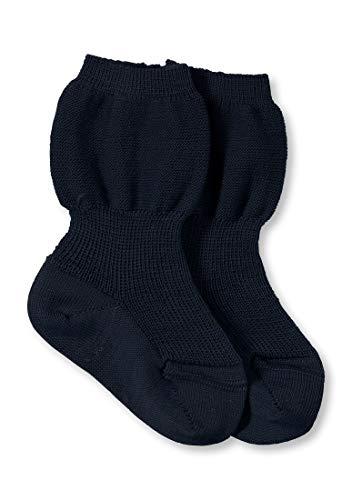 hessnatur Baby Mädchen und Jungen unisex Socke aus reiner Bio-Merinowolle marine 19-22