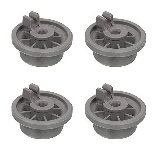 4 ruedas inferiores para lavavajillas compatibles con Bosch 165314 00165314 AP2802428 165314 420198 423232 Hotpoint 37MM C00290453 43-BS-04 piezas de repuesto universales grandes para lavavajillas