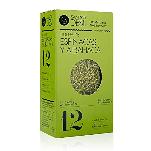 Sandro Desii Pasta Fideuá de Espinacas y Albahaca 250 g