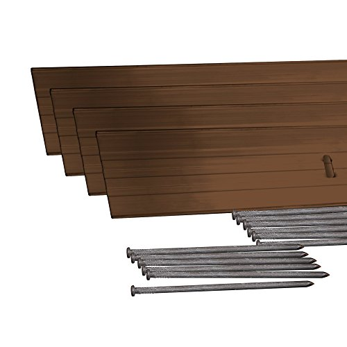 EasyFlex 1806BR-24C Aluminum Landscape Edging Project Kit, Brown