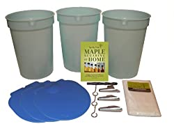 maple syrup tapping kit for home with plastic buckets