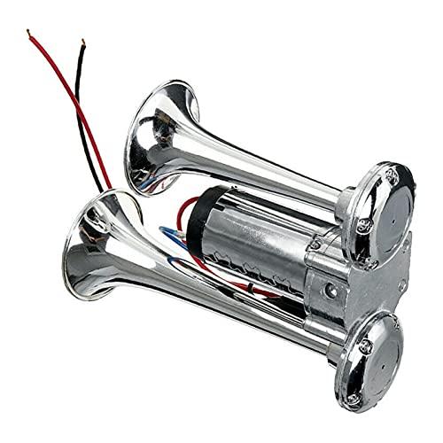 LinXIPU Cuerno Fuerte 60 0DB 12V Cuerno eléctrico de Doble Cuerno eléctrico de Cuerno eléctrico eléctrico bocina Altavoz para Coches, Camiones, Motos (Color : 600DB 12V)