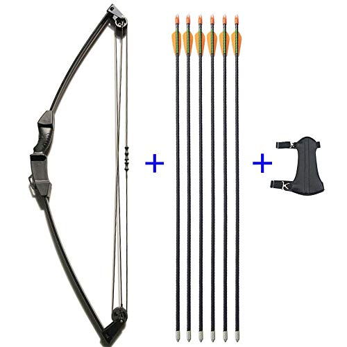 SHARROW 12lbs Kinder Pfeil und Bogen Set Kinderbogenset Outdoor Jugend Junior Recurve Bogen mit 6 Kinderpfeile Jugendpfeile Fiberglaspfeile Bogenschießen Training Spielzeug