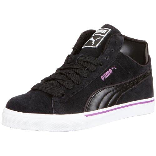 PUMA Mid Vulc Suede 351702 03 Unisex - Erwachsene Sneaker, EU 38 schwarz (Black-White-Hyacinth Violet)