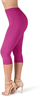 High Waisted Ultra Soft Capris Leggings - 20 Colors - Reg & Plus Size