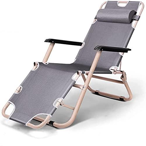 CHLDDHC Patio Lounge Chairs Robuster Freizeitstuhl Klappstuhl Home Lazy Lunch Break Chair Sofastuhl,Grey-66CM