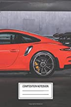 Notebook: Porsche Gt3rs 991 911 Lava Orange , Journal for Writing, Size 6
