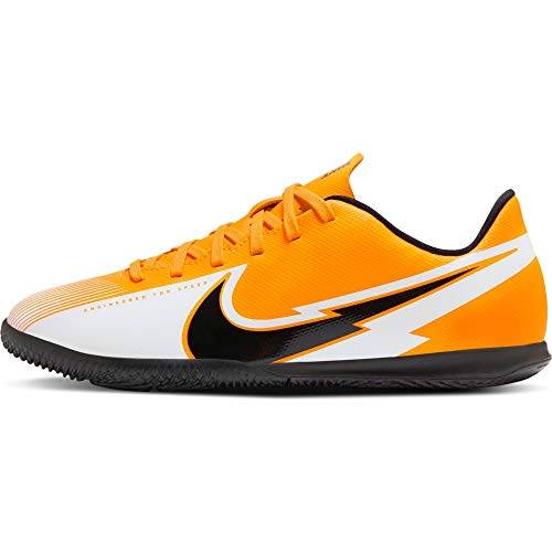 Nike Legend 8 Club IC, Zapatillas de Futsal, Láser de Color Naranja, Negro y Blanco, 38 EU