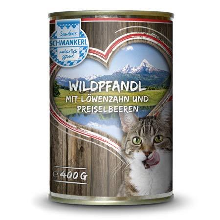 Sandras Schmankerl Nassfutter für Katzen Wildpfandl 6 x 400g. | getreidefrei | zuckerfrei