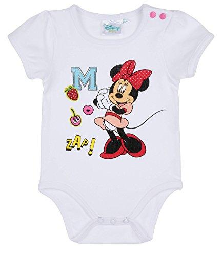 Disney Minnie Babies Girls Body bebé - Blanco - 12M