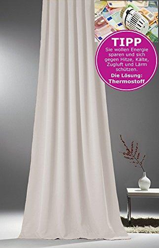 NOVUM fix Verdunkelungs-Vorhang * MASSANFERTIGUNG * Kräuselband * Off-White 145x300cm(BxH)