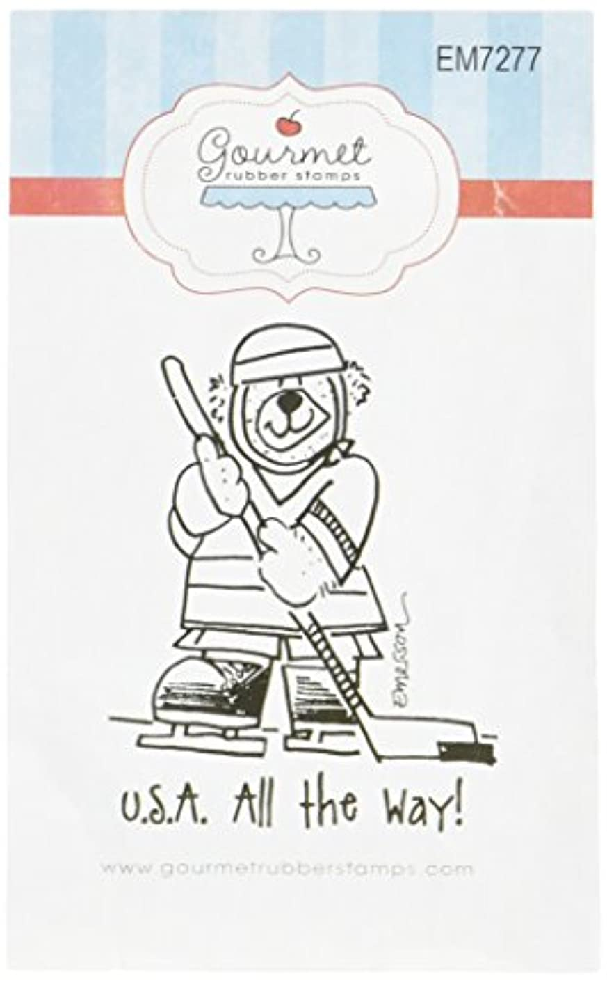 Gourmet Rubber Stamps USA All The Way Cling Stamps, 2.75 x 4.75