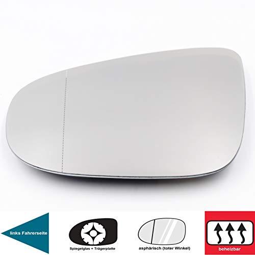 QSParts 4864 Spiegelglas Heizbar Links Fahrerseite Golf 6 (5K1) TOURAN (1T3) 5K0857521