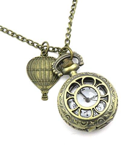 schmuck-stadt Ballon Kettenuhr Uhrenkette bronzefarben Ballonreise