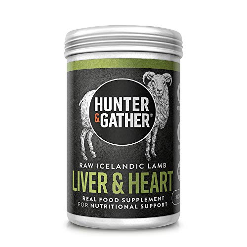 Hunter & Gather Nose to Tail - Liver & Heart 90 Capsules | Wild, Grass Fed Icelandic Lamb Nutritional Support | Raw Freeze-Dried Lamb | No GMO Feeds, Antibiotics Or Hormones