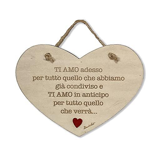 DaclArt Targa in Legno Amore Ti Amo cu-03 Made in Italy