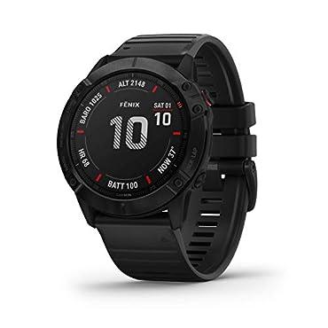 Garmin fenix 6X Pro Sapphire Multisport Smartwatch (Carbon Gray DLC/Black)