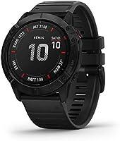 Garmin Unisex Zegarek Sportowy z GPS i Pomiarem Tętna Fenix 6X Pro, Czarny, L/36 mm, 010-02157-01