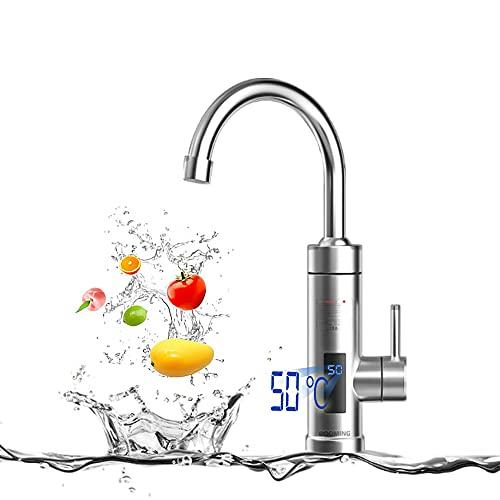 BOOMING 3 secondi di rubinetto dell'acqua calda, scaldabagno elettrica con LED Display,...