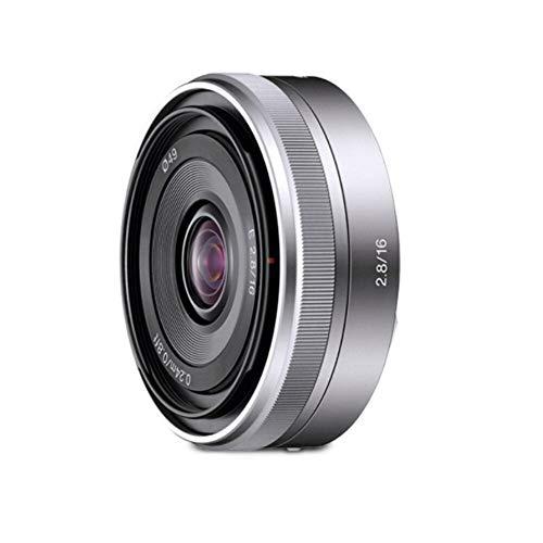 Sony SEL-16F28 Super Weitwinkel-Objektiv (Festbrennweite, 16 mm, F2.8, APS-C, geeignet für A6000, A5100, A5000 und Nex Serien, E-Mount) silber