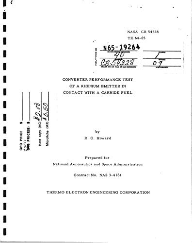 Converter performance test of a rhenium emitter in contact with a carbide fuel final report (English Edition)