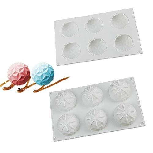 Dessert decoratie malSiliconen cakevorm 3D Frans 6 Delicate Diamond Bakken Decoration Pastry Gereedschap