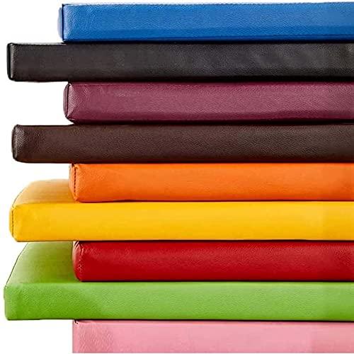YuYiY Cojín de cuero de lujo para banco de jardín, 100/120/140/150 cm de largo, impermeable, para patio, césped, comedor, cocina (marrón, 40 x 80 x 5 cm)
