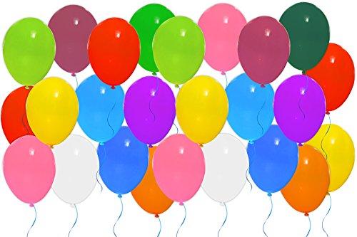 * 25 Stück Luftballons in zwölf Farben | Durchmesser: ca. 22,5 cm | Rundballons zur Dekoration und als Spielzeug