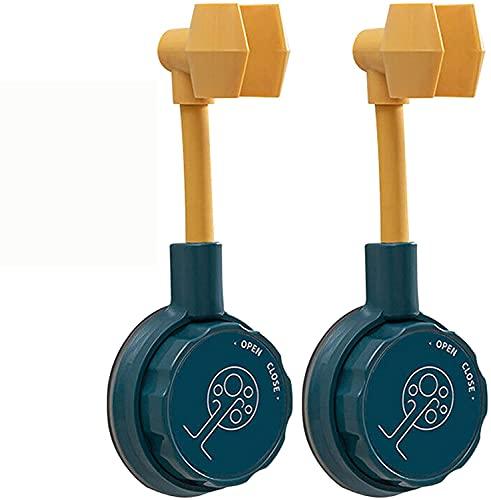 QGANG Soporte De Ducha Ajustable Universal Sin Perforaciones Giratorio 360, Soporte De Ducha con Ventosa, Soporte De Ducha Ajustable con Ventosa (2 Pcs Blue)