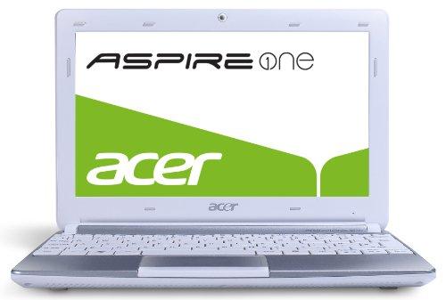 Acer Aspire One D257 25,7 cm (10,1 Zoll) Netbook (Intel Atom N570, 1,6GHz, 1GB RAM, 320GB HDD, Intel 3150, Win 7 Starter) weiß