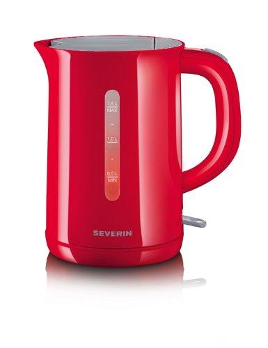 Severin - 3414 - Bouilloire 2200W / Niveau Eau Visible - 1,5L - Rouge / Gris