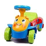 deAO Véhicule Trotteur 3in1 Super Original Trotteur D'équilibre Voiture avec Activités pour Bébé *Bleu*