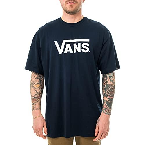 Vans Herren Classic T - Shirt, Blau (Navy/white), Medium